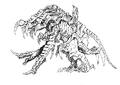 Concept Art - Godzilla 2000 Millennium - Orga 94