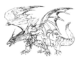 Concept Art - Rebirth of Mothra - Desghidorah 16