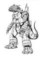Concept Art - Godzilla Against MechaGodzilla - Kiryu 51