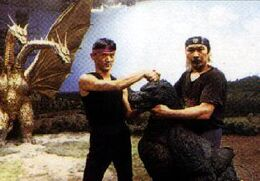 Hurricane Ryu and Kenpachiro Satsuma in Godzilla vs. King Ghidorah