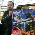NICOLAS CAGE with WOLFMAN VS GODZILLA poster