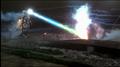 Super-MechaGodzilla firing at Godzilla