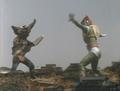 Go! Greenman - Episode 3 Greenman vs. Gejiru - 28 - Looks more like a dance battle