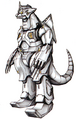 Concept Art - Godzilla Against MechaGodzilla - Kiryu 3