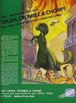Crush crumble chomp advert
