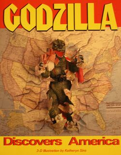 Godzilla Discovers America storybook cover