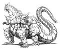 Concept Art - Godzilla vs. SpaceGodzilla - SpaceGodzilla 9