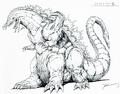 Concept Art - Godzilla vs. SpaceGodzilla - SpaceGodzilla 4