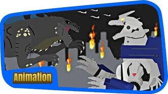MECHAGODZILLA) VS ジラ (ZILLA) -- Kaiju Animation Battle