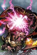 King Caesar vs Battra en portada de Godzilla Rulers of earth edicion 23