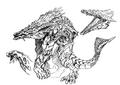 Concept Art - Godzilla 2000 Millennium - Orga 75