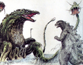 Concept Art - Godzilla vs. Biollante - Godzilla vs. Biollante 3