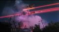 Queen Legion's laser tendrils striking Gamera - 1