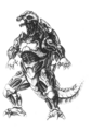 Concept Art - Godzilla Against MechaGodzilla - Kiryu 54
