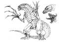 Concept Art - Godzilla 2000 Millennium - Orga 80