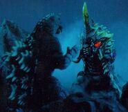 Godzilla vs Battra Larva en Godzilla vs Mothra