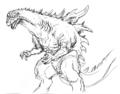 Concept Art - Godzilla 2000 Millennium - Godzilla 25