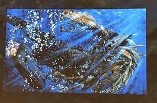 Godzilla atacando a MUTO Prime bajo el agua