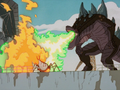 Zilla Junior vs Fire Monster