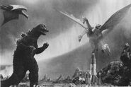 IOAM - Godzilla and Rodan vs. King Ghidorah Close Up