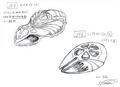 Concept Art - Godzilla 2000 Millennium - Millennian UFO 1