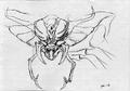 Concept Art - Godzilla vs. Megaguirus - Megaguirus 5