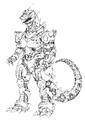 Concept Art - Godzilla Against MechaGodzilla - Kiryu 38