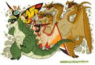 Godzilla saves the day by roflo felorez-d9le8ew