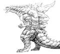 Concept Art - Godzilla 2000 Millennium - Godzilla 4