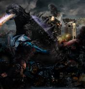 Godzilla vs the jeagers apocalypse goes on by thrillerzillaart-d6yebiu