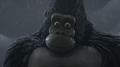 Kong in rain