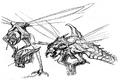 Concept Art - Godzilla vs. Megaguirus - Meganula 2