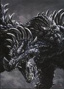 Godzilla mordiendo a anguirus Godzilla Uchusen Daikaiju Art