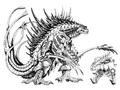 Concept Art - Godzilla 2000 Millennium - Orga 16