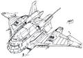 Concept Art - Godzilla vs. Destoroyah - Super X3 3