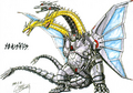Concept Art - Godzilla vs. King Ghidorah - Mecha-King Ghidorah 3