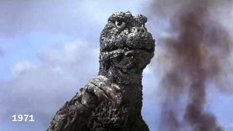 Evolution Of Godzilla (1954 - 2014) (Remake)