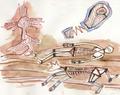 Concept Art - Godzilla Final Wars - Shobijin Cave Mural 3