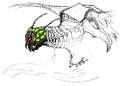 Concept Art - Godzilla vs. Megaguirus - Megaguirus 8