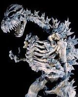 Godzillas Skelett