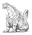 Concept Art - Godzilla vs. SpaceGodzilla - SpaceGodzilla 10