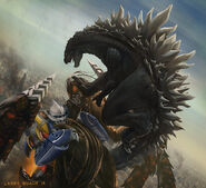 Godzilla and jet jaguar vs megalon by nobackstreetboys-d6hh39r