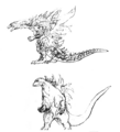 Concept Art - Godzilla 2000 Millennium - Godzilla 29