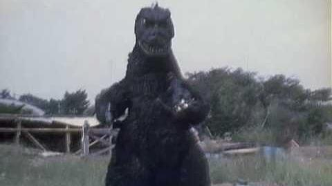 Nakajima tries on the Godzilla suit one last time