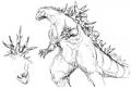 Concept Art - Godzilla 2000 Millennium - Godzilla 2