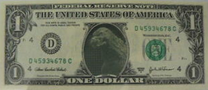 Godzilla 1994 MogeGoji In 1 Dollar Bill