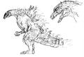 Concept Art - Godzilla 2000 Millennium - Godzilla 22