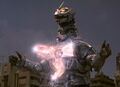 Godzilla Against MechaGodzilla-Kiryu charging his Absolute Zero Cannon
