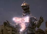 Godzilla Against MechaGodzilla-Kiryu charging his Absolute Zero Cannon