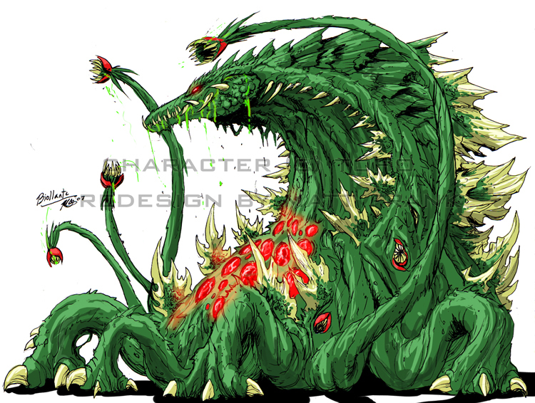 Dibujos Godzilla Raids Again 1955 Para Colorear: Image - Biollante Neo.jpg